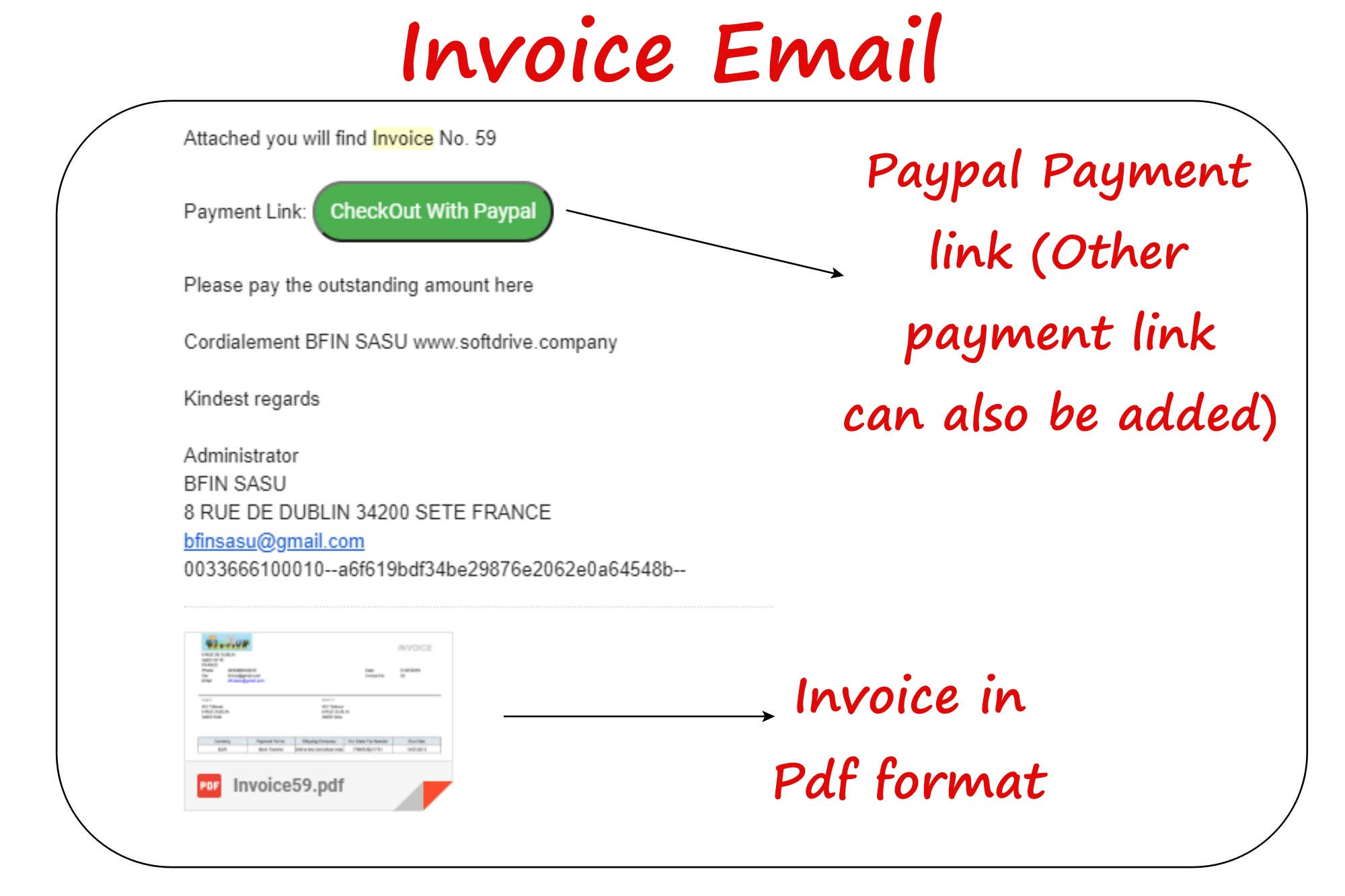 payment link on invoice
